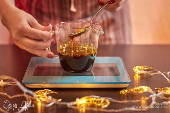 Постоянно помешивая, уварите сироп до 110°C. Перелейте в баночку, остудите. Хранится хорошо в плотно закрытой емкости.
