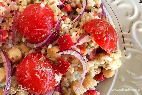 Наш яркий салат готов.