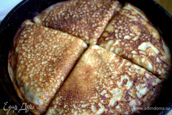 Подаем на общем блюде или нарезав на порции, как торт.