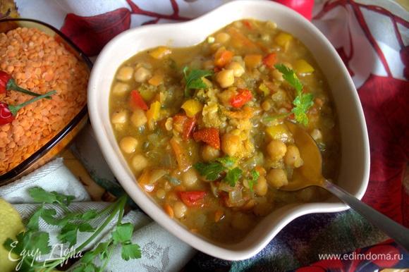 Такой суп заменит и первое, и второе. И не надо долго стоять у плиты.