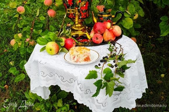 Такой пирог подойдет для домашнего чаепития с родными, близкими и друзьями.