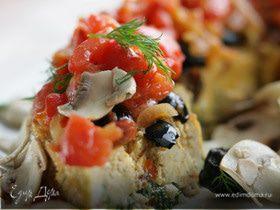 Рыбный пирог со шпинатом