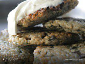 Рисовые блинчики с сушеными грибами
