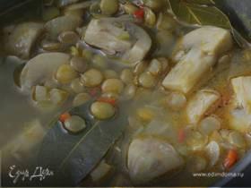 Суп из чечевицы с луком