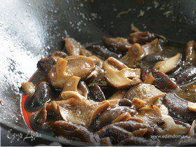 Закуска из грибов шиитаке