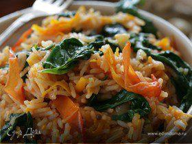 Индийский рис со шпинатом