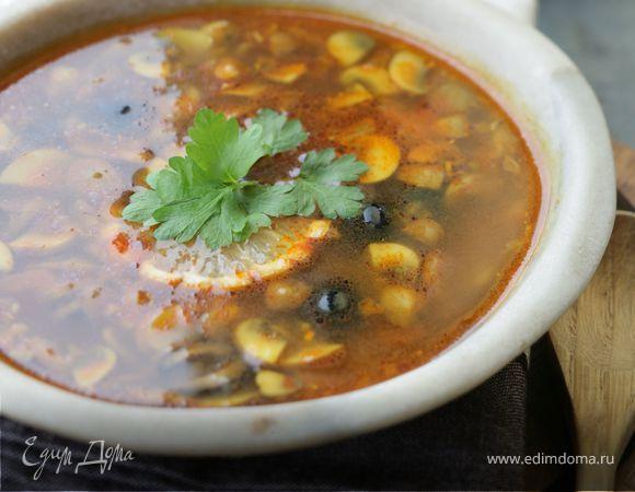 Грибной суп с карри