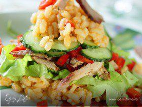 Салат из говядины с рисом