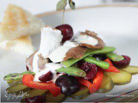 Салат из говядины и зеленой фасоли