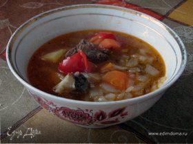 шурпа (узбекский луковый суп)