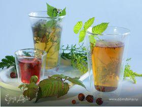Чай с шиповником и крапивой