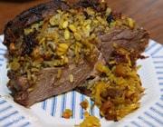 Баранина, фаршированная ароматным рисом и финиками