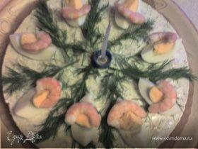 холодный торт с лососем
