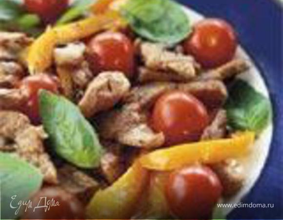 Телятина с имбирем и томатом