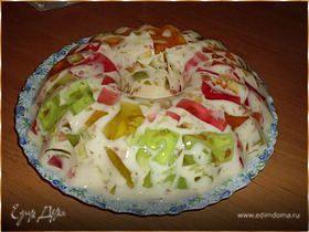 Желейный тортик с фруктами