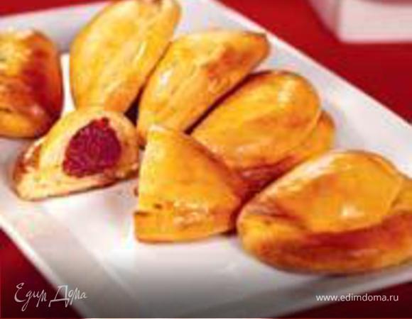 Творожные пирожки с фруктами