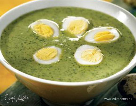 Пасхальный суп из зелени