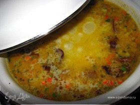 Суп грибной с плавленным сырком