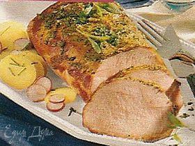 Свинина с горчичной корочкой