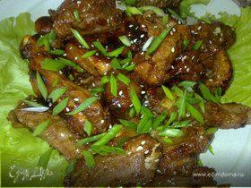 Острые свиные рёбрышки по-китайски