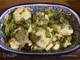 Салат с артишоками и сыром