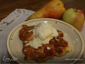 Яблочно-грушевые оладьи