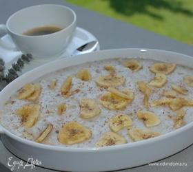 Рисовая каша с бананами и мускатным орехом