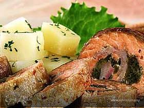 Филе горбуши с соусом