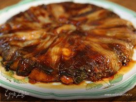 Пирог из цикория с сыром и карамелью