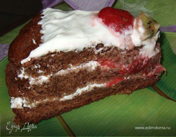 Шоколадный йогуртовый торт