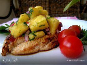 Курица в цитрусовом маринаде с ананасной сальсой