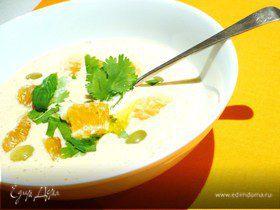 Миндальный суп с чиабаттой