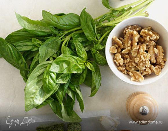 Песто из петрушки, льняного семени и грецкого орех