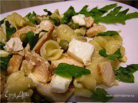 Средизерноморский салат с жареной курицей