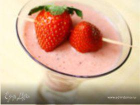 Коктейль клубнично–йогуртовый