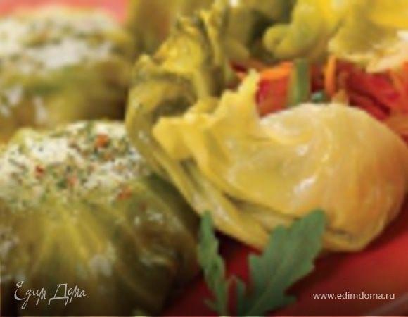 Шарики из капустных листьев