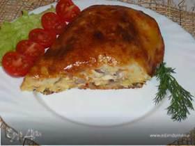 Картофельный рулет с начинкой из курицы