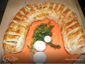 """""""Подкова"""" с картофелем и грибами"""