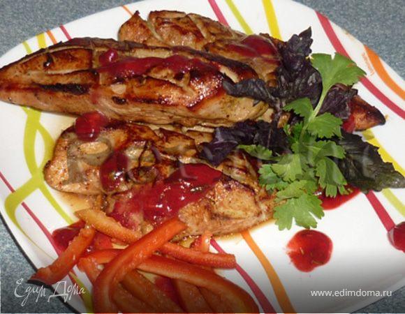 Пряная курица под кизиловым соусом
