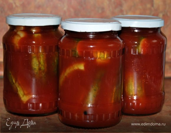Огурцы в томатной пасте