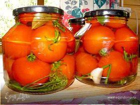 Маринованные помидоры с чесночком