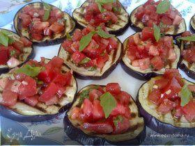 Баклажаны-гриль с помидорами и мятой