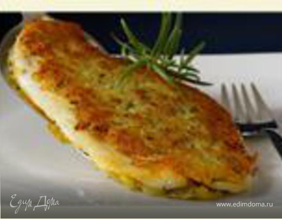Рыба с корочкой из картофеля и розмарина