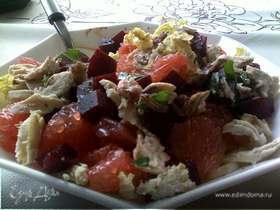 Салат из свеклы и грейпфрута