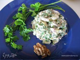Грушевый салат с курицей
