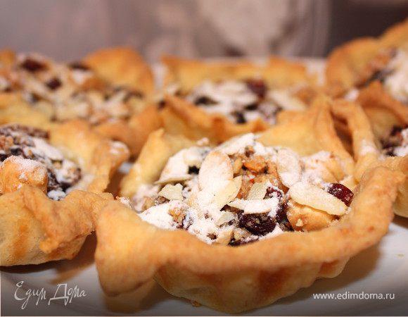 Пирожные с клюквой и орехами