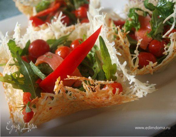 Сырные корзиночки пошаговый рецепт с фото