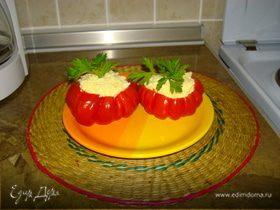 Помидорки, фаршированые сыром с чесночком