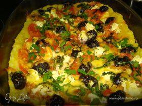 Пицца из картофеля с оливками