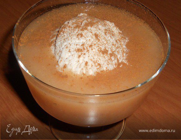 Десертный грушевый суп с мороженым
